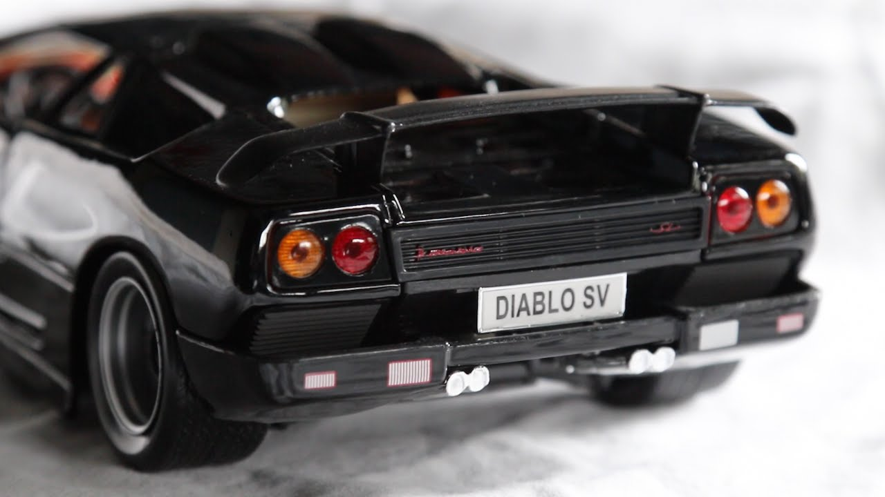 Review 1 18 Scale Maisto Lamborghini Diablo Sv Youtube