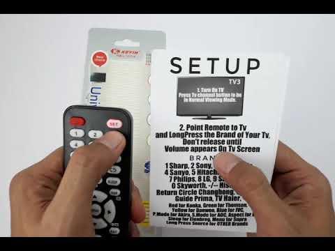 Universal Tv Remote For LCD, LED, Plasma, Smart Tv- Keyin L1107+4