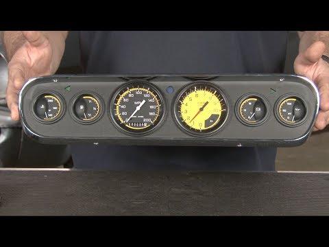 Mustang 6 Gauge Auto Cross Set With Instrument Bezel Kit