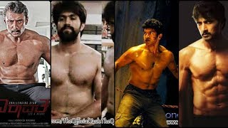Top 14 Fittest sandalwood (Kannada) actors with 6 pack abs