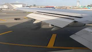 "[B747]Takeoff New York JFK QF12 B747-400ER seat59A(43'21"")2018,4K"