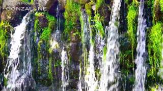 La cascade du Donozeau, dite aux Fadarelles.