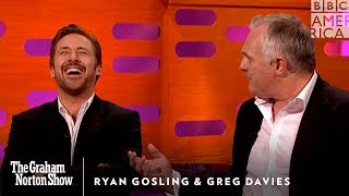 Watch Ryan Gosling Lose It Over Greg Davies