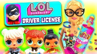 LOL Surprise Dolls Learn To Drive! Featuring Party PopTeenies Unboxing and Incredibles 2 Violet!
