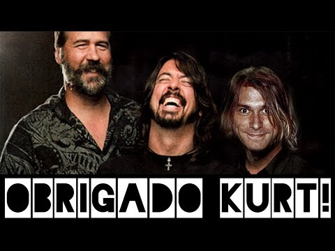 Dave Grohl agradece Kurt Cobain no palco com Krist Novoselic em show do Foo Fighters!