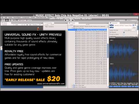 Universal Sound FX - Unity Preview