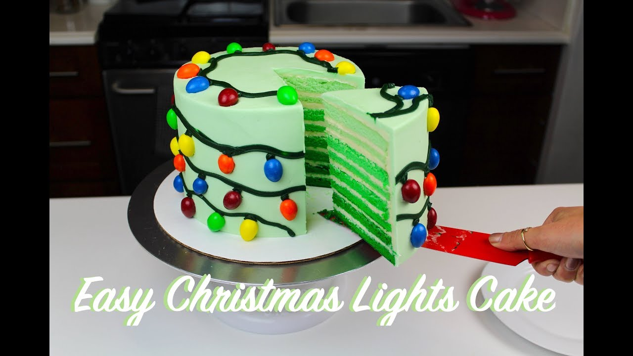 Christmas Birthday Cake.Easy M Ms Christmas Lights Cake Chelsweets