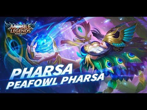 Mobile Legends Bang Bang Pharsa New Skin Peafowl Pharsa Youtube