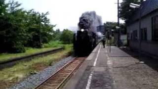横川目駅SL D-51-498 試運転