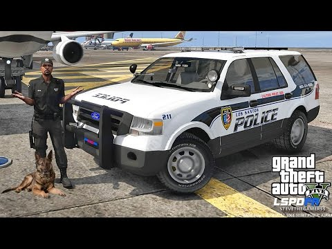 LSPDFR #445 - AIRPORT PATROL!! (GTA 5 REAL LIFE POLICE MOD)
