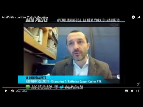 AriaPulita - #Emilianinfuga Maurizio Scaltriti ricercatore a NYC