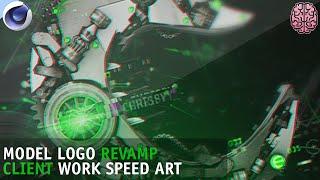 Speed Art: Chrispy   C4D Mechanical Logo Model by Qehzy