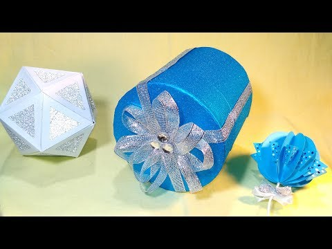 Easy gift box. DIY round box from can. 💟 DIY Paper and aliminium can life hack.