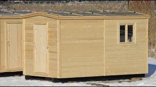 Бытовка 2.3х4 Дачная с отделкой. Цена 33.500 руб. ( Бытовки бани в СПб )(, 2014-03-22T06:11:05.000Z)