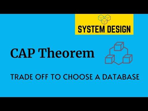 Cap Theorem Trade Offs To Choose A Database System Design Primer Tech Primers Youtube