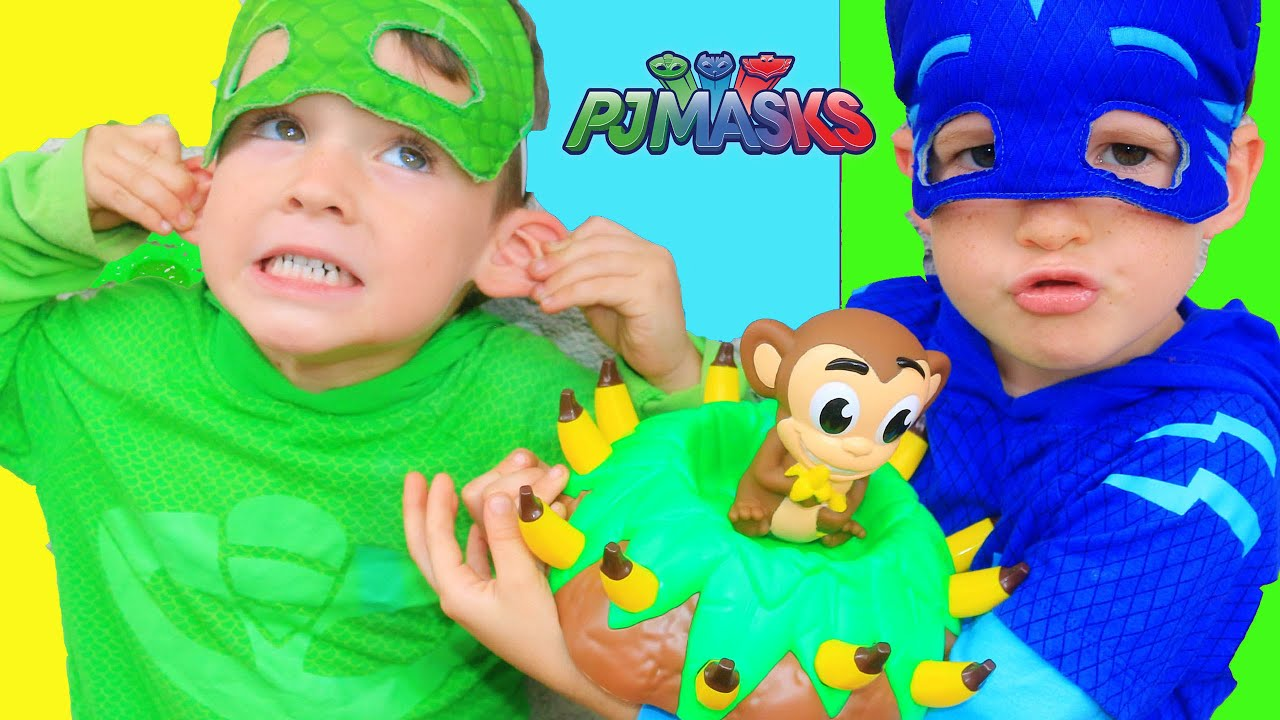 PJ Masks CATBOY vs GEKKO in Banana Blast Game & Night Ninja Episode