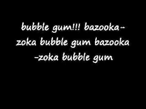 Bazooka bubble gum song with lyrics