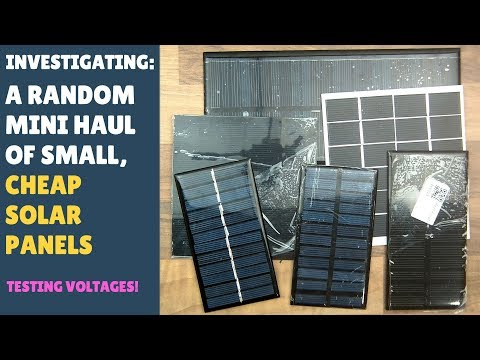 Checking Out a Small Cheap Solar Haul... Testing Voltages.