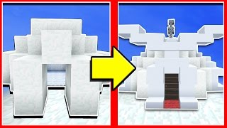 ДЕЛАЕМ ИЗ ИГЛУ КРУТОЙ ДОМ | Красивый дом в Minecraft