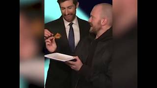 Scott Rogowsky Eats Spicy Wing With Hot Ones' Sean Evans On HQ Trivia | February 19, 2019