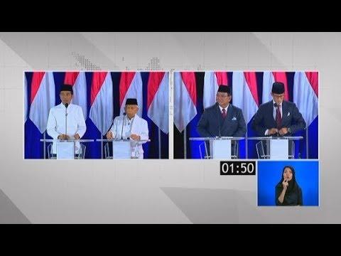 "Inilah ""Momen-Momen Panas""Antara Jokowi-Maruf Vs Prabowo-Sandiuno Di #DebatKelimaPilpres2019"