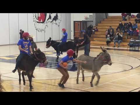 Briess donkey basketball team vs Chilton High School students