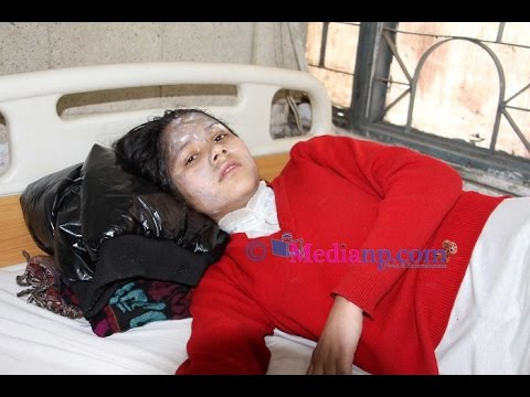 Acid attacked on two Girls Kathmandu