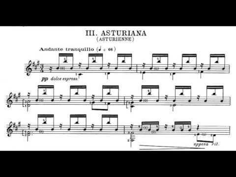 Manuel De Falla - Siete Canciones Populares Españolas For Mezzo-soprano & Guitar (Score Video)
