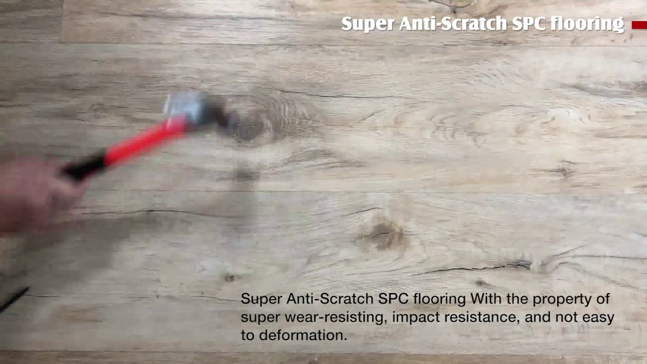 Super Anti Scratch Spc Flooring Decno Group Youtube