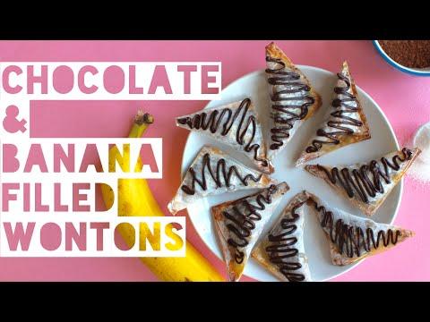Healthy Chocolate Desert Recipe | How To Make High Protein Chocolate & Banana Filled Wontons