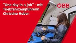 """One day in a job"" mit Triebfahrzeugführerin Christine Huber"