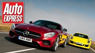Mercedes-AMG GT vs Porsche 911 GTS: track battle and drag race