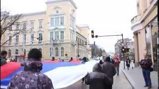 Скандируют перед Русской Церковью, 9-й митинг-шествие, 5.04.2015(, 2015-04-05T16:43:23.000Z)