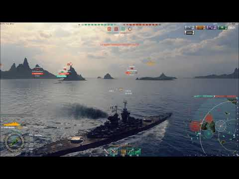 World of Warships French BB T10 Republique 270k dmg!