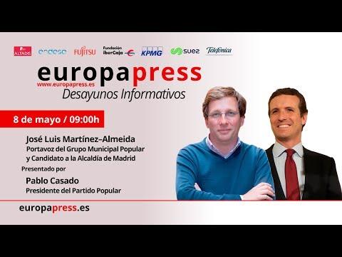 Desayuno Informativo Europa Press con José Luis Martínez-Almeida