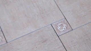 Укладка плитки на пол (со смещением) в коттедже
