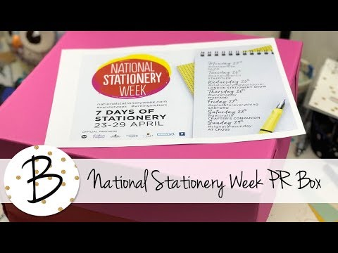 National Stationery Week PR Box Unboxing