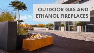 Outdoor Gas i Ethanol Fireplaces Collection by Planika