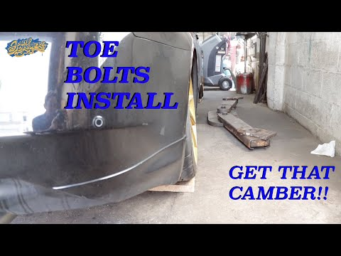 Infiniti G37 rear toe bolts install how to