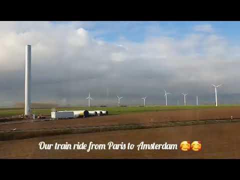 Paris to Amsterdam via Thalys train (Dec 2019)