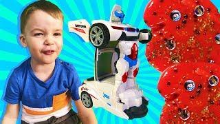 Мультики про машинки трансформеры! Кто Помешал сделать Слайм?  Мультфильм Машины ТОБОТЫ для детей