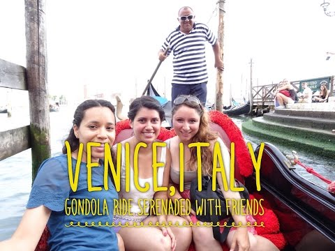 Gondola Ride Serenade on the canals of Venice,Italy VLOG