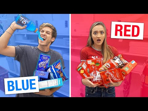 LAST TO STOP EATING THEIR COLORED FOOD CHALLENGE WINS $1,000!