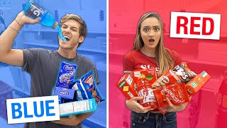 Eating Only ONE Color Of Food For 24 Hours! (Rainbow Food Challenge)