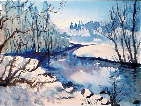 Let S Paint An Icy Cold Landscape Landscape Drawings Landscape