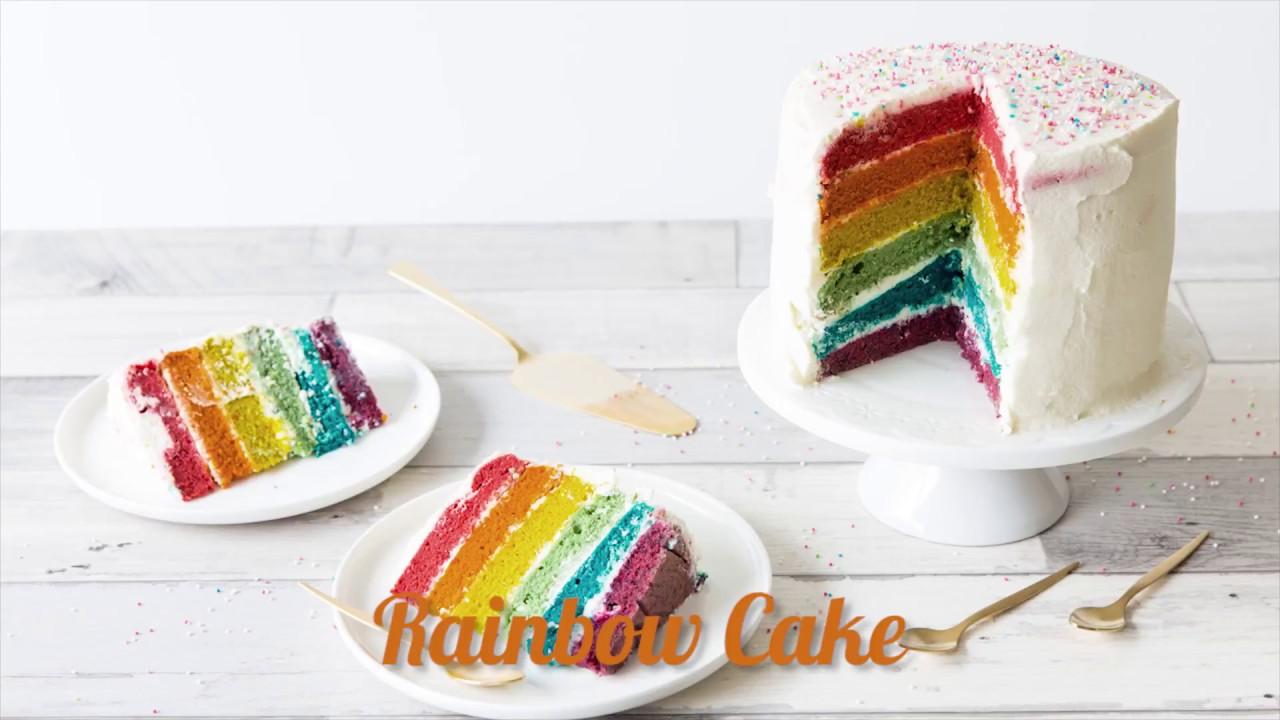 rainbow cake gateau arc en ciel recettes faciles odelices
