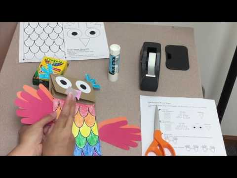 Who's Hootin'? Paper Bag, Owl Puppet Craft Tutorial from MusicK8.com
