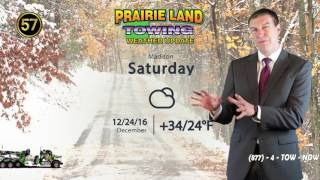 December 23, 2016 | Prairie Land Towing Weather Update