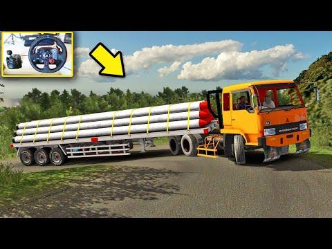 Percobaan Truk Fuso Muat Paku Bumi Sitinjau Lauik - Euro Truck Simulator 2