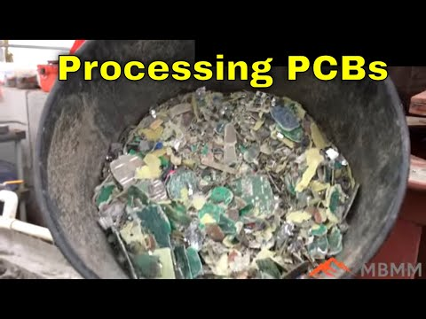 Clean Gold and Copper Recovery Processing Printed Circuit Boards
